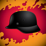 War helmet. Old black war helmet background Stock Photo