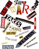 War Hurts Word Collage Royalty Free Stock Photos