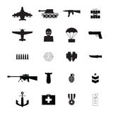 War icons Royalty Free Stock Photo