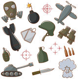 War Icons Set Royalty Free Stock Image
