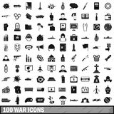 100 war icons set, simple style. 100 war icons set in simple style for any design vector illustration Stock Photography