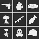 War Icons. Set of icons on a theme war Stock Image