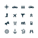 War icons set Royalty Free Stock Images