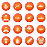 War icons vector set Royalty Free Stock Photo