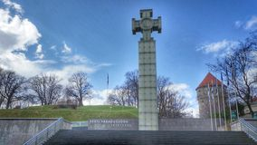 War of Independence Victory Column on Freedom Square in Tallinn, Estonia Stock Image