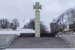 The War of Independence Victory Column in Tallinn Stock Images