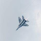 War jet plane in sky Stock Photo