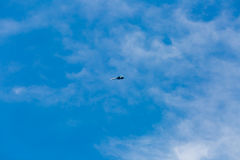War jet planes flying in blue sky Stock Images