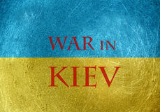 War in Kiev Royalty Free Stock Image