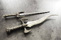 War knife. Old decorative knife used in  war Royalty Free Stock Photo