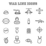 War line icons Stock Images