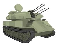 War machine. tank  drawing illustration Royalty Free Stock Photo