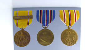 War Medals. American Defense Medal, Donated by Mrs. Jane C.Brown Royalty Free Stock Images