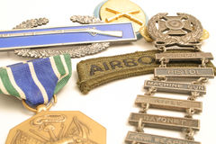 War medals. Isolaated shot of war medals Royalty Free Stock Photo