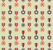 War medals pattern Royalty Free Stock Image