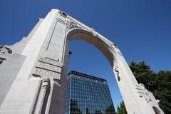 War Memorial. Bridge of Remembrance - War Memorial in Christchurch, New Zealand Royalty Free Stock Photos