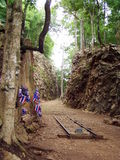 War memorial. Place of war memorla called hellfire pass, thailand Stock Photos