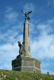 War memorial. The winged victory statue at Aberystwyth, Wales Royalty Free Stock Image