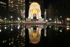 War Memorial. Sydney, Australia ANZAC war memorial reflected in water royalty free stock image