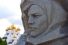War memorial and Assumption Church in Yaroslavl, Russia. Royalty Free Stock Image
