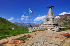 War Memorial, Gavia Mountain Pass, Italy Royalty Free Stock Images