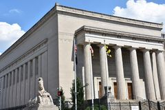 War Memorial of Baltimore. Front and side view of the exterior of the War Memorial Building located in Baltimore, Maryland (USA stock photography
