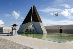 War Memorial on the banks of the River Tagus in Lisbon Stock Photography