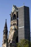 War memorial  in Berlin-Charlottenburg. Kaiser-Wilhelm-Gedächtniskirche in Breitscheidplatz, Berlin - Germany Royalty Free Stock Photo