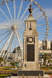 War memorial and big wheel Torquay Royalty Free Stock Images