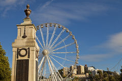 War memorial and big wheel Torquay Royalty Free Stock Image