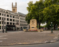 War Memorial, Bristol City Centre. ENGLAND, BRISTOL - 13 SEP 2015: War Memorial, Bristol City Centre, early morning royalty free stock photos