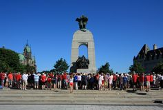 War Memorial Canada Day Morning Royalty Free Stock Photography
