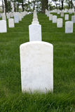 War Memorial Cemetery with Blank Tombstone Grave Marker. War memorial cemetery or graveyard with a blank tombstone grave marker Stock Photos