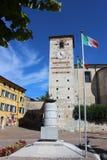 War memorial and church of Santa Maria, Cisano Royalty Free Stock Photos