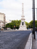 War memorial column on the Avenida de Liberdade in Lisbon the Capital city of Portugal. Lisbon is one of the oldest cities in the world, and the oldest in royalty free stock images