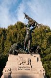 War memorial, the commoner, square August 8, Bologna Stock Photo