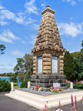 War Memorial, Devenport, Tasmania. Australia.  War memorials in Australia are gathering places each 25th April to commemorate Anzac Day and remember those Stock Image