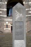 War memorial at the former St. Elizabeth's Hospital in Arnhem Royalty Free Stock Photography