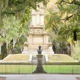 War memorial Forsyth Park Savannah Georgia GA US royalty free stock photography