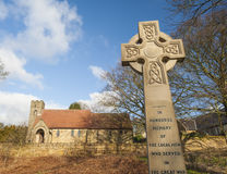 War memorial in front of english church Stock Photography
