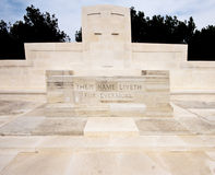 War memorial, Gallipoli, Turkey. Stock Photography
