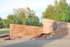 War memorial on Glory Square in Samara city center. Royalty Free Stock Photo