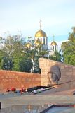 War memorial on Glory Square in Samara city center. Royalty Free Stock Image