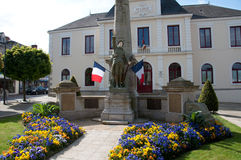 War Memorial in Guer, France Stock Photography