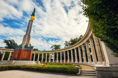 War Memorial -  Heroes Monument of Red Army on Schwarzenbergplatz in Vienna, Austria Stock Image