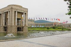 The War Memorial of Korea. Was established to remember the Korean War  and to symbolize the desire for peaceful reunification of Korea Royalty Free Stock Image