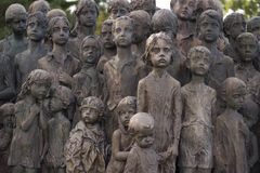 War memorial in Lidice, Czech Republic Stock Photo