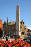 War memorial main street Southport floral town Merseyside. Royalty Free Stock Photography