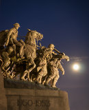 War Memorial and Moonlight Royalty Free Stock Image