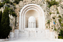 War memorial,Nice,France Royalty Free Stock Photography
